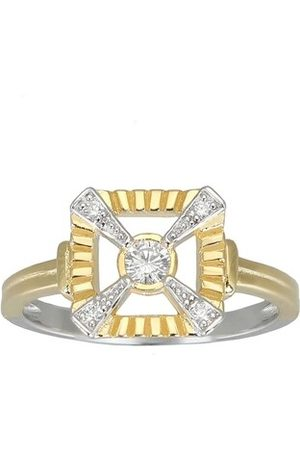 V by Laura Vann Ring Eleanor Ring Bicolor gelbgold