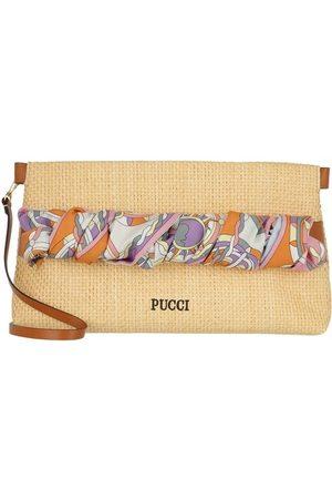 Emilio Pucci Damen Clutches - Umhängetasche Clutch Bag Solid Beige+Melone beige