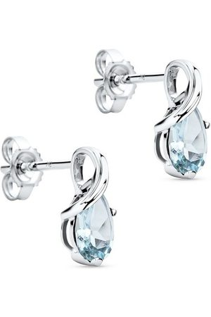 DIAMADA Ohrringe 9KTAquamarine Stud Earrings White Gold weißgold