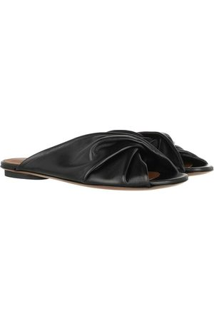 L'Autre Chose Sandalen Flat Sandals Lamb Leather Black schwarz