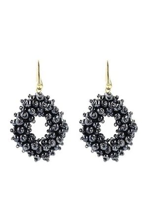 LOTT. gioielli Damen Uhren - Ohrringe Earrings Glassberry Ace Double Stones M Yellow Gold marine