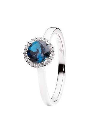 Capolavoro Ring Ring Espressivo Topas London Blue Faceted White Gold weißgold