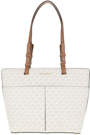 Michael Kors Tote Bedford Medium Pocket Tote Bag Vanilla/Acorn