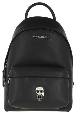 Karl Lagerfeld Rucksack K/Ikonik Metal Pin Backpack Black