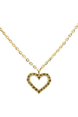 PDPAOLA Halskette Necklace Heart Olive/Yellow Gold grün