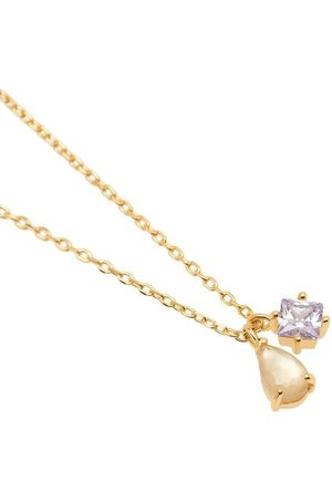 PDPAOLA Damen Halsketten - Halskette Velours Necklace Yellow Gold gelbgold