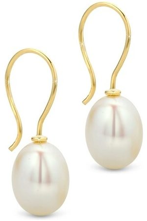 DIAMADA Ohrringe 14KT Pearl Hook Earring Yellow Gold gelbgold