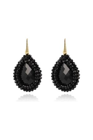 LOTT. gioielli Ohrringe Earrings Glassberry Filled Drop Medium Black Gold schwarz