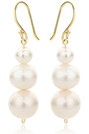 DIAMADA Ohrringe 14KT (585) Pearl Earrings Yellow Gold gelbgold
