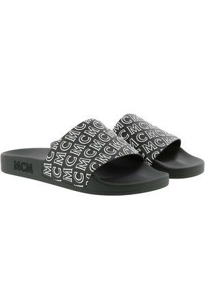 MCM Damen Schuhe - Schuhe Diagonal Logo Slide Black schwarz