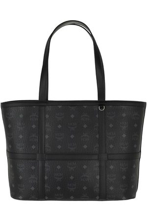 MCM Shopper Delmy Visetos Shopper Medium Black