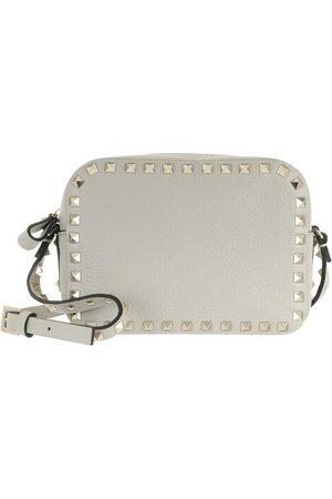 VALENTINO Umhängetasche Rockstud Crossbody Leather Opal Grey