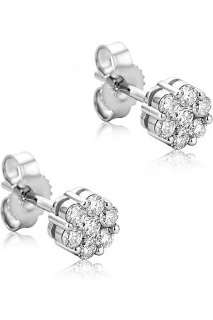 DIAMADA Ohrringe 0.38ct Diamond Stud Earring 14KT White weiß