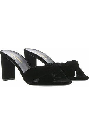 Saint Laurent Sandalen Sandals Leather Black schwarz