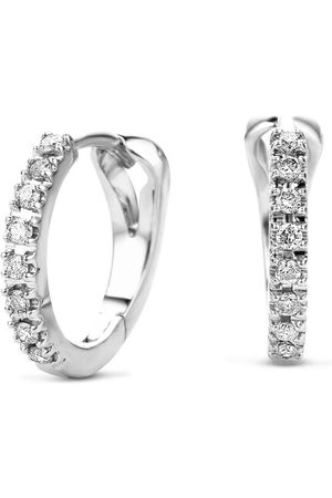 DIAMADA Ohrringe 0.11ct Diamond Creole Earring 14KT White Gold weißgold