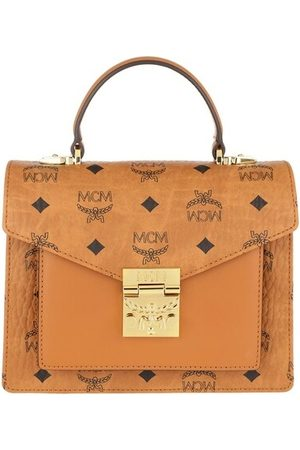 MCM Damen Shopper - Satchel Bag Ptrc Visetos Satchel Small Cognac cognac
