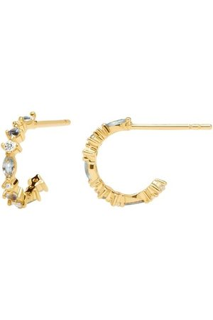 PDPAOLA Ohrringe Ombré Earring Yellow Gold blau