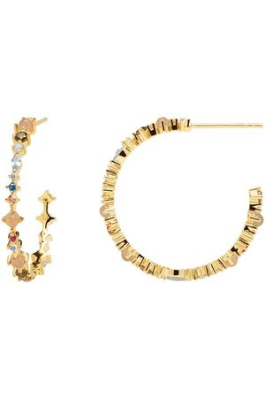 PDPAOLA Ohrringe Halo Gold Earring Yellow Gold gelbgold