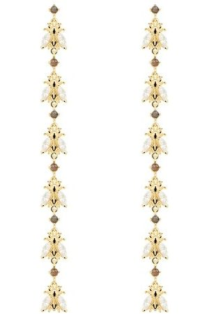 PDPAOLA Damen Uhren - Ohrringe Earrings NEST Yellow Gold gelbgold