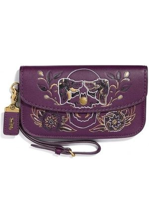 Coach Clutch Lila, Damen, Größe: One size