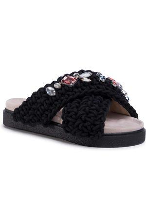 INUIKII Women Woven Stones 70104-006 Black