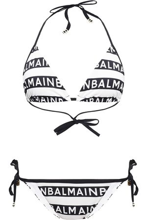 Balmain Two-piece swimsuit with logo , Damen, Größe: 40 IT