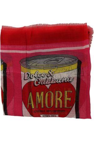 Dolce & Gabbana Amore Cashmere Silk Wrap Scarf Pink, Damen, Größe: One size