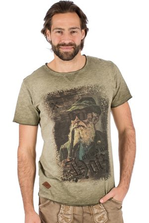 hangOwear Herren Trachtenshirts - Trachten T-Shirt Fritz oliv