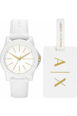 Armani Uhr Ladies Silicone Watch and Luggage Tag Gift Set