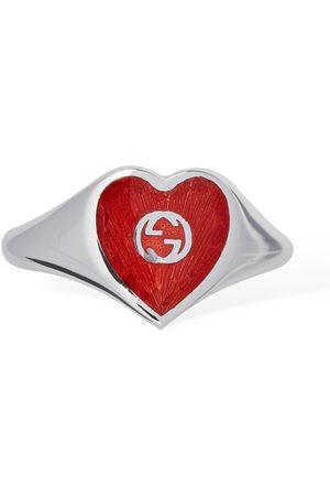 """Gucci Ring Mit Emaille """"interlocking G"""""""