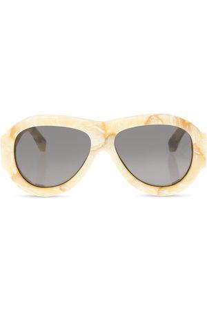 OFF-WHITE Logo sunglasses , Damen, Größe: One size