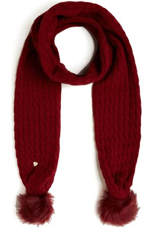Guess Knitted scarf with PomPom , Damen, Größe: One size
