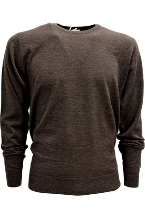 CASHMERE COMPANY Men's Neck Sweater Made Italy Cashmere Wool and Silk , Herren, Größe: 48 IT