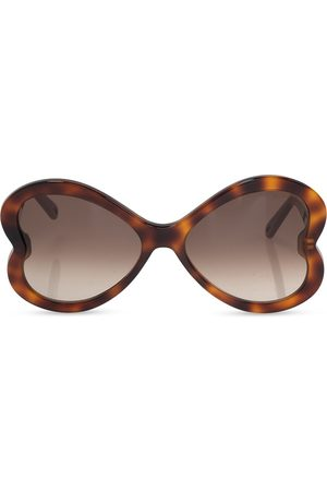 Chloé Logo-embossed sunglasses , Damen, Größe: One size