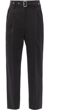 Proenza Schouler Belted Wool-blend Tapered Trousers