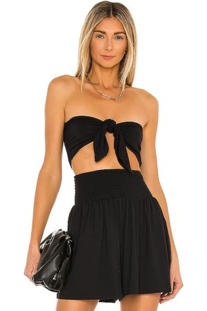 Susana Monaco Reversible Crop Bow Top in . Size M, S, XS.