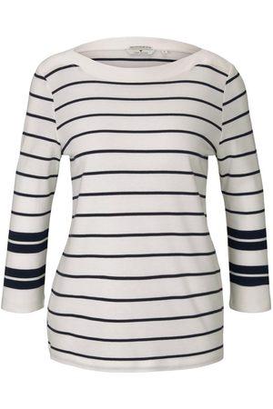 TOM TAILOR Damen Gestreiftes 3/4 Arm Shirt, , Gr.XS