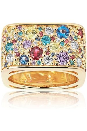 Sif Jakobs Jewellery Ring Novara Quadrato Ring Multicoloured Zirconia