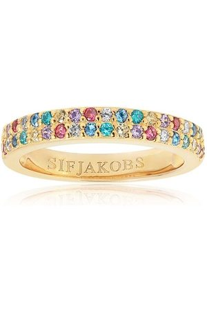 Sif Jakobs Jewellery Ring Corte Due Ring Multicoloured Zirconia 18K Plated