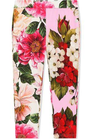 Dolce & Gabbana Mädchen Stoffhosen - Hose mit Blumen-Print