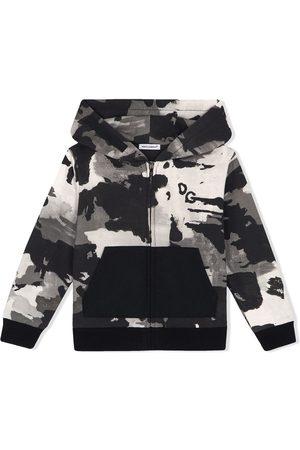 Dolce & Gabbana Kids Hoodie mit Camouflage-Print