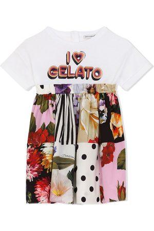 Dolce & Gabbana Kids T-Shirtkleid mit Slogan-Print