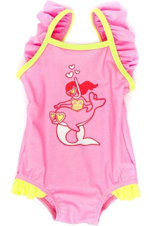 Billieblush Badeanzug mit Meerjungfrauen-Print