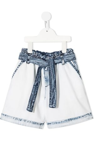 Msgm Jeans-Shorts mit Bindegürtel