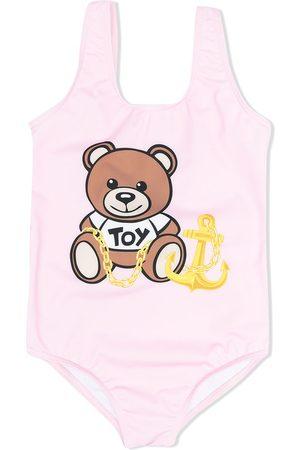 Moschino Kids Badeanzug mit Teddy-Print