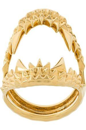 KASUN LONDON Vampire Biter' Ring aus vergoldetem Sterlingsilber