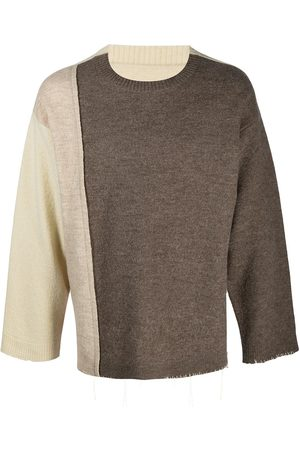 Maison Margiela Herren Strickpullover - Strickpullover in Colour-Block-Optik