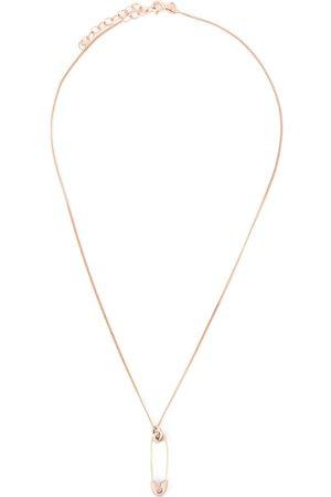 True Rocks Halsketten - Rotvergoldete Halskette mit Sicherheitsnadel-Anhänger