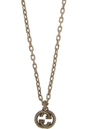 Gucci Gg Rope-engraved Sterling-silver Necklace