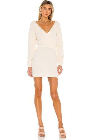 Tularosa Mia Surplice Mini Dress in . Size M, S, XL, XS, XXS.